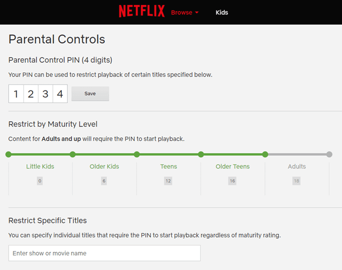 How To Use Netflix's Parental Control Feature