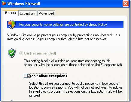How to Block Remote Connections to a Windows XP Computer