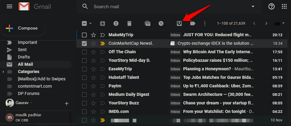 How to Retrieve Archived Emails in Gmail