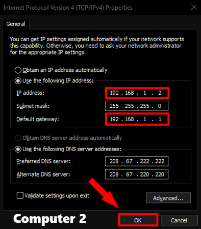 How to Share Files between Two Computers Using LAN Cable