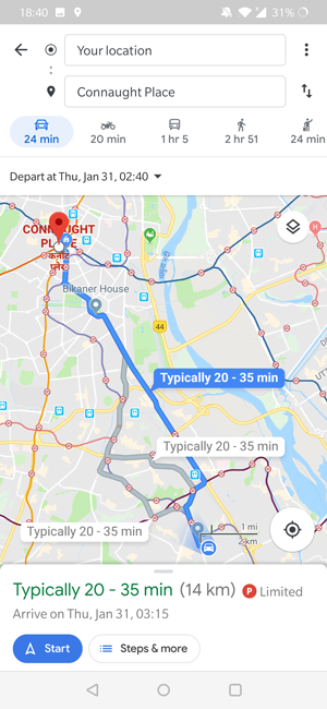 How to Predict Traffic on Google Maps for Android