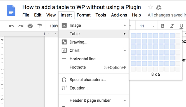How to Create Table in WordPress Without Plugin