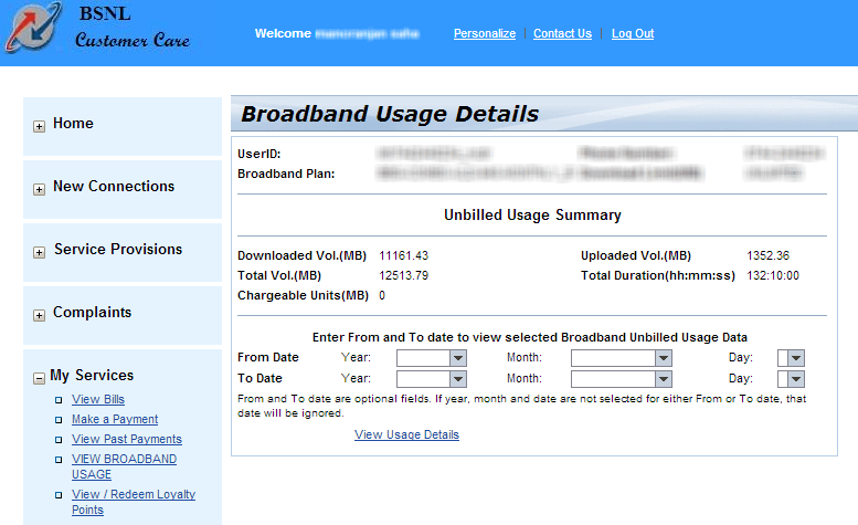 Easily Way To Track Your Monthly Broadband Usage