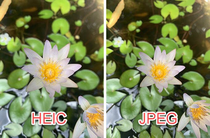 What is the difference between HEIC VS JPG