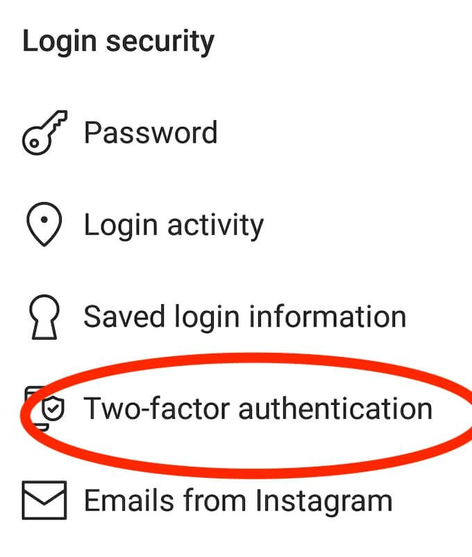 How to enable or disable two-factor authentication on social media