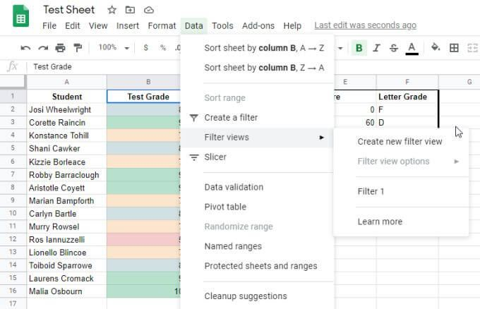 How to Sort or Filter by Color in Google Sheets Easy way
