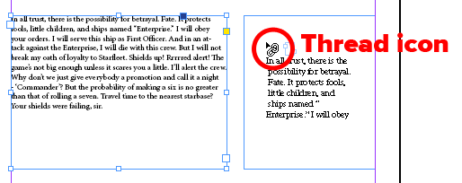 Link Text Boxes in Adobe InDesign 2021