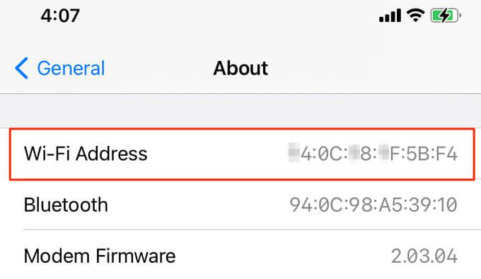 Find the MAC address of your Android device