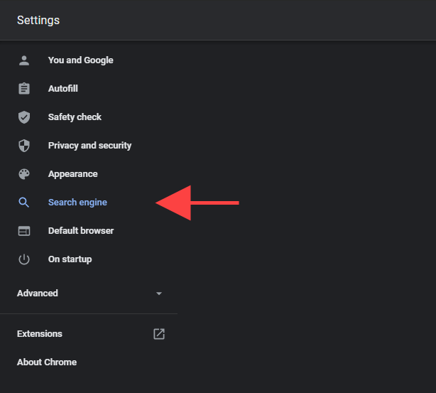 How do I remove yahoo search from chrome